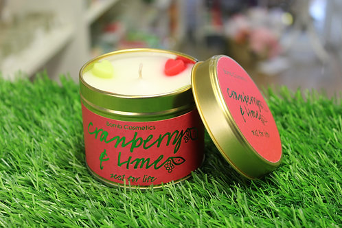 Cranberry & Lime, Tinned Candle