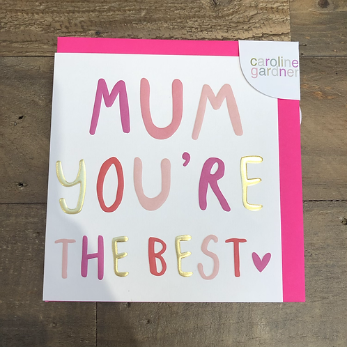 Mum, You're the Best. Card
