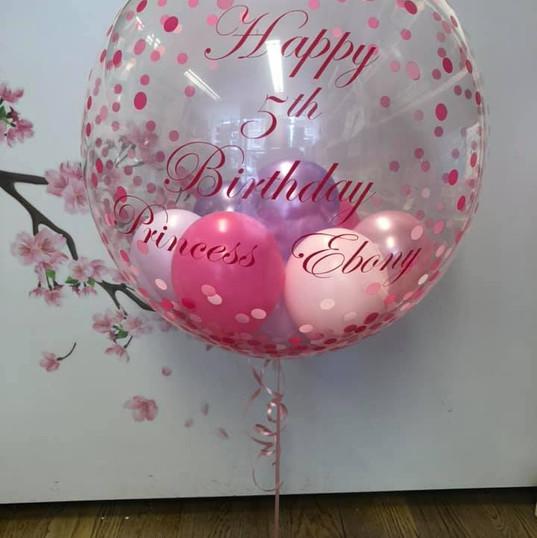 Pink Spotty bubble