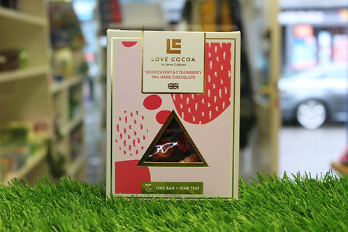 Sour Cherry & Strawberry 70% Dark Chocolate Bar