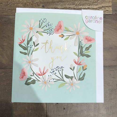 Thank you, Floral garland. Card
