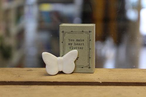 You make my heart Flutter, Butterfly - Matchbox