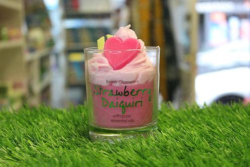 Strawberry Daiquiri, Piped Glass Candle