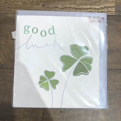 Good luck, Clover card