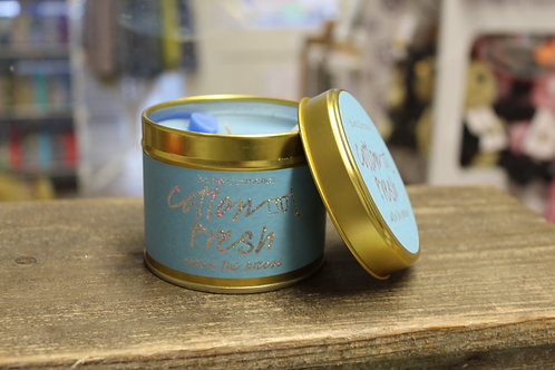 Cotton Fresh, Tinned Candle