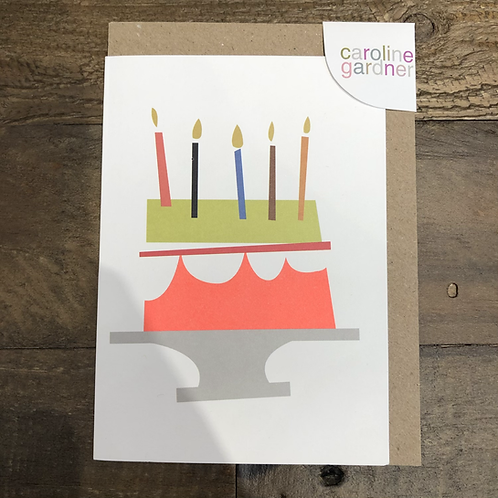 Neon Cake, Blank Card.