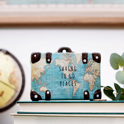 Saving to go Places, Map, Moneybox