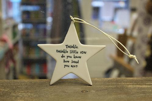 """""""Twinkle, twinkle little star..."""" Porcelain Star"""