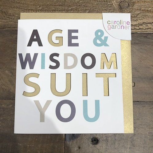 Age & Wisdom Suit You, Card