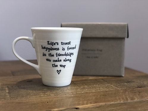 Life truest happiness... - Porcelain Mug