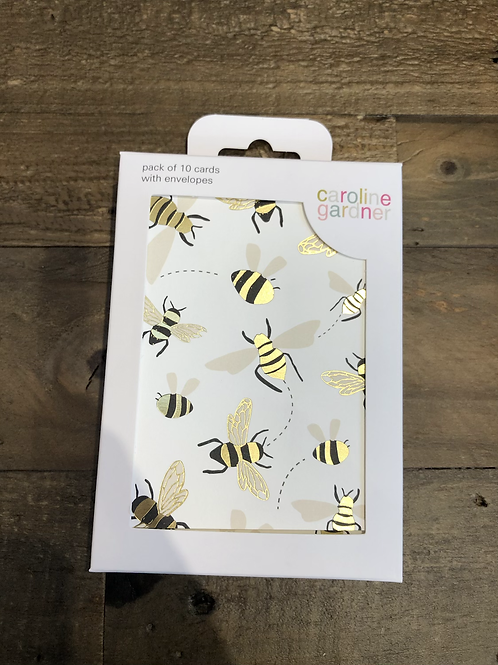 Bees, Pack of 10 Cards