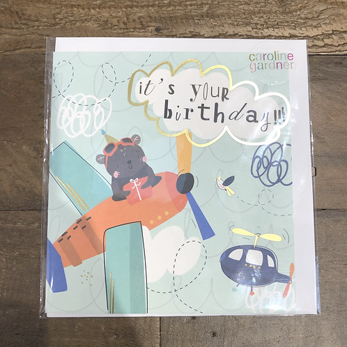 it's your birthday, Airplane Card
