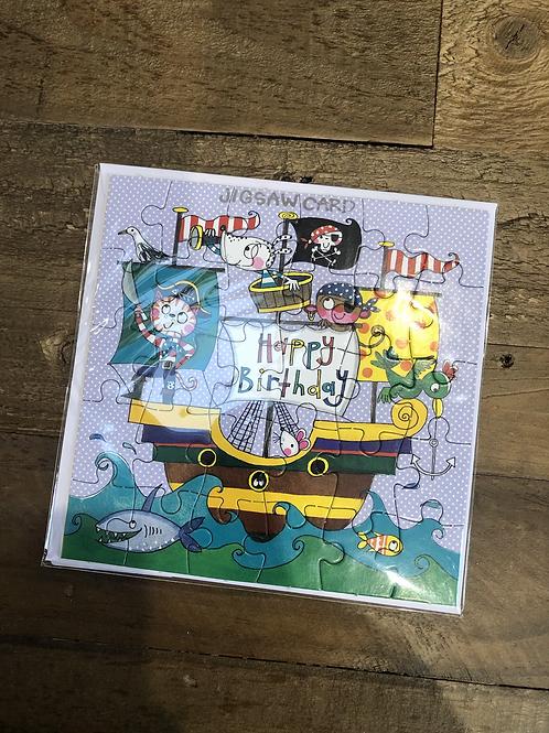 Pirate, Happy Birthday Jigsaw Card