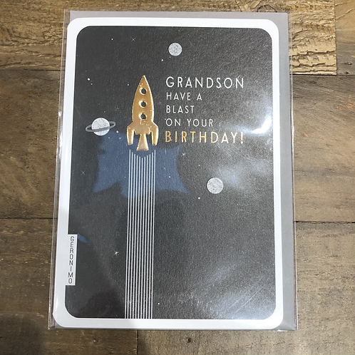 Grandson, Have a blast on your birthday! Card