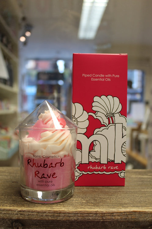 Rhubarb Rave, Piped Candle