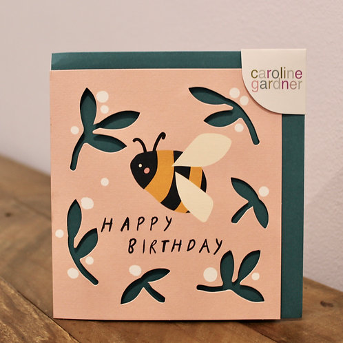 Happy Birthday, Bee, cut out card