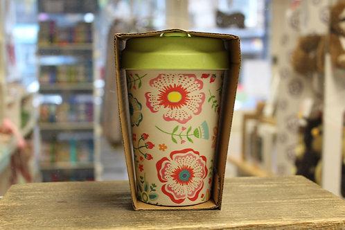 Scandinavian Floral, Bamboo Travel Mug