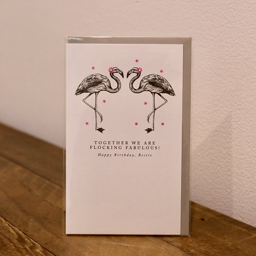 Flocking fabulous. Birthday Card