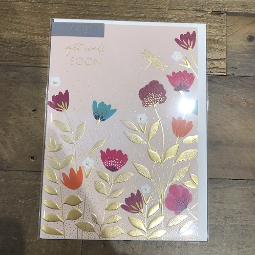 Get well soon, Floral Card