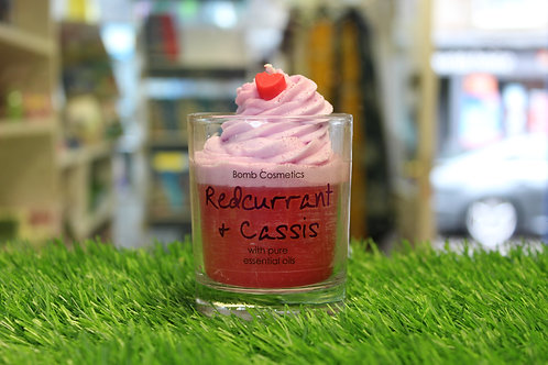 Redcurrant & Cassis, Piped Glass Candle