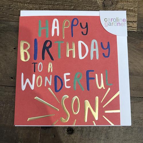 Happy Birthday to a Wonderful Son, Card