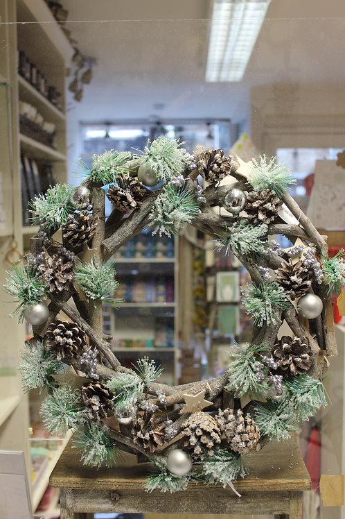 Snowy Rustic Wreath