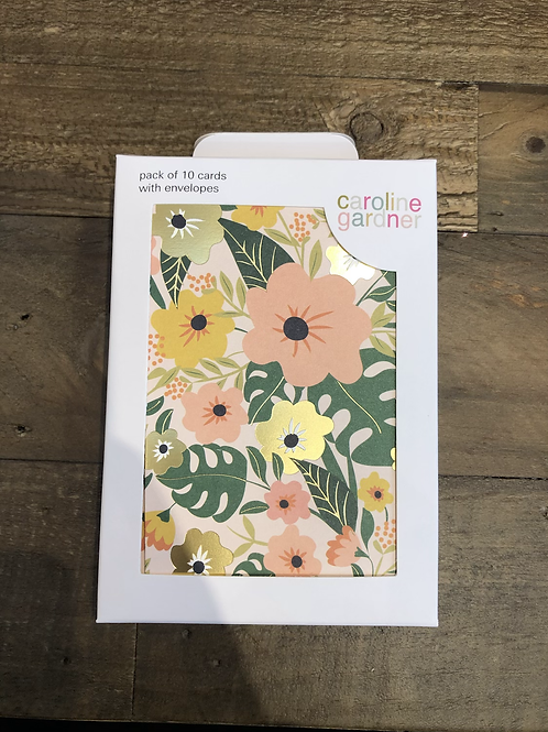 Tropical Flowers, Pack of 10 Cards