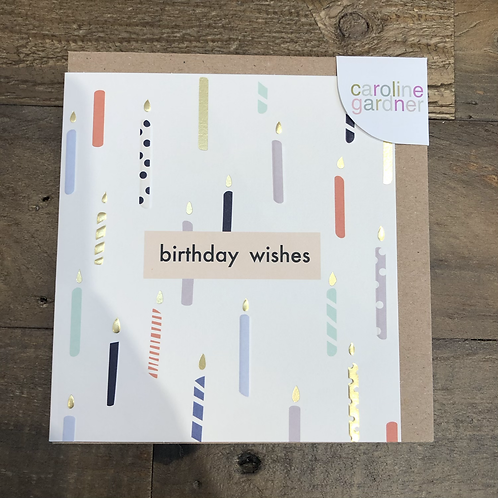 Birthday Wishes, Candles. Card