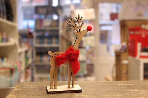 Deer with Scarf, Standing Ornament