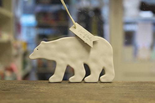 Porcelain Hanging Polar Bear