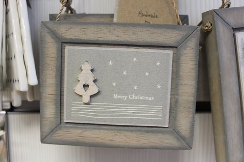"""Wooden Plaque """"Merry Christmas"""""""
