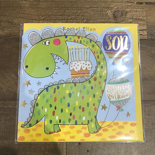 Happy Birthday Son, Dinosaur Card