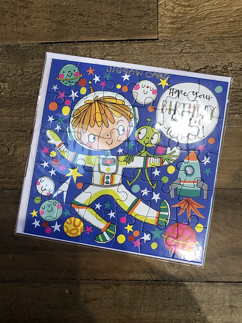 Space, Happy Birthday Jigsaw Card