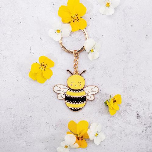 Happy Bee, Enamel Keyring