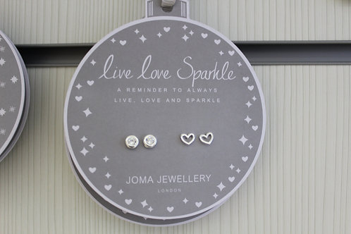 Live love sparkle, Earring Bauble