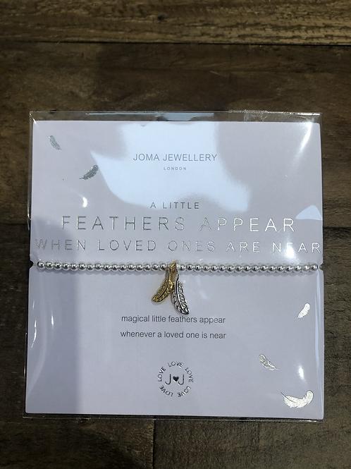 a little, Feathers appear... Bracelet