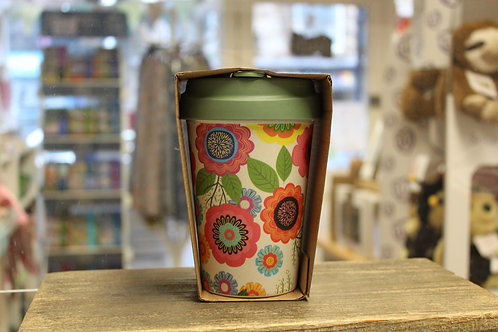 Flower Power, Bamboo Travel Mug