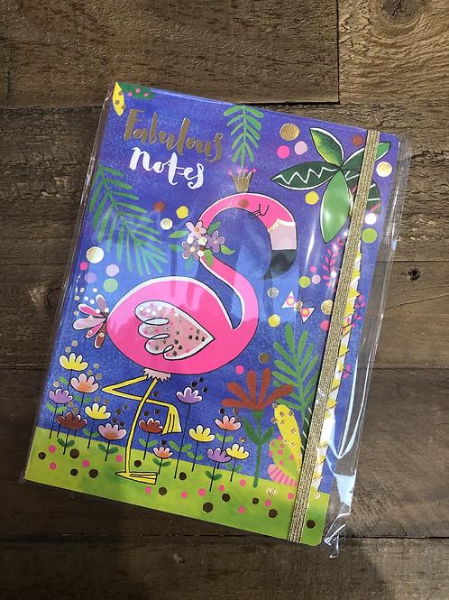 Fabulous Notes, Flamingo A5 Notepad