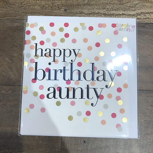 Happy Birthday Aunty, Spotty Card