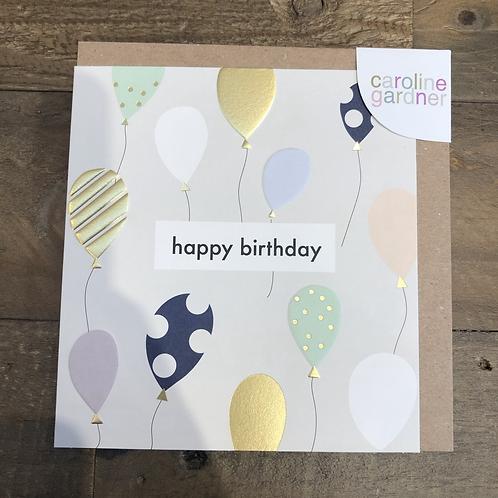 Happy Birthday, Balloons. Card