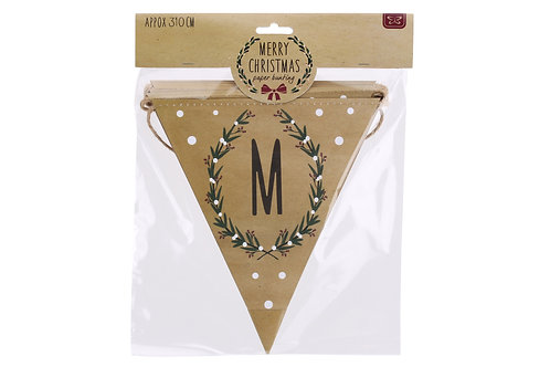 Merry Christmas, Craft paper bunting