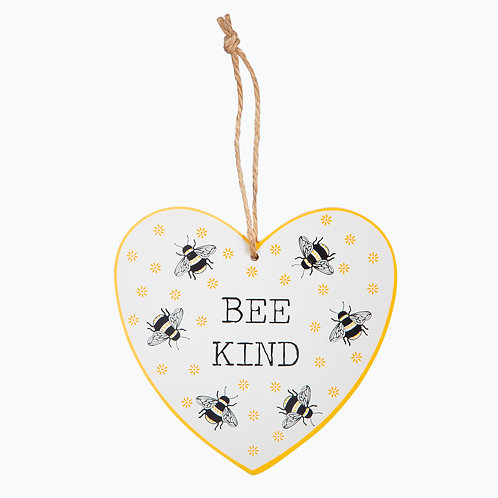 Bee Kind, Heart Plaque