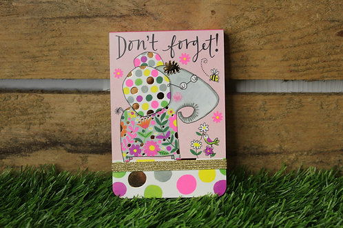 Dont forget! Elephant A7 Notepad