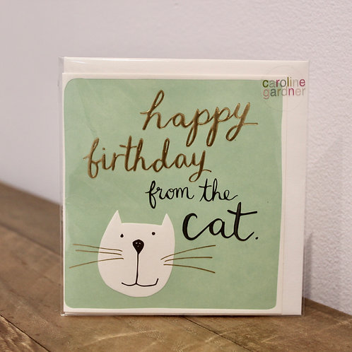 Happy Birthday, from the cat... Birthday Card