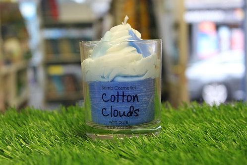Cotton Clouds, Piped Glass Candle
