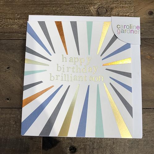 Happy Birthday to a Brilliant Son, Card