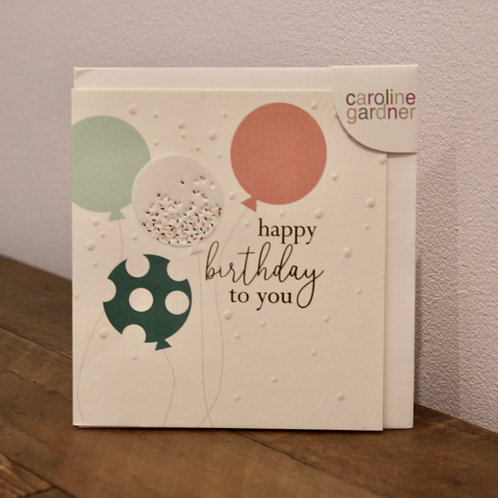 happy birthday, balloons... Birthday Card