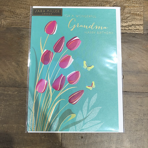 For a wonderful Grandma, Happy Birthday. Card