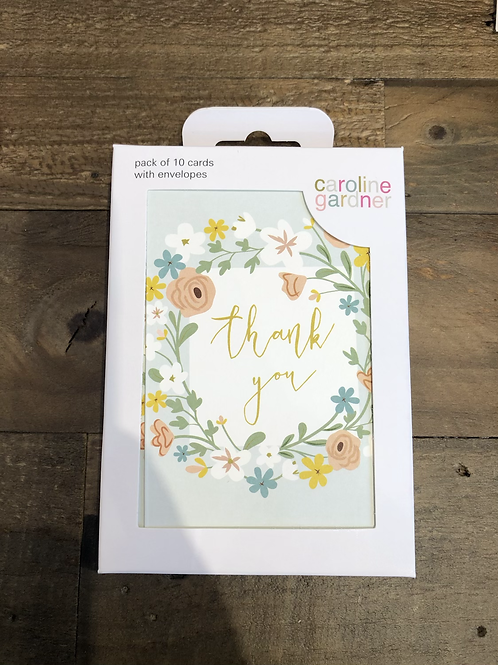 Thank you, Floral. Pack of 10 Cards