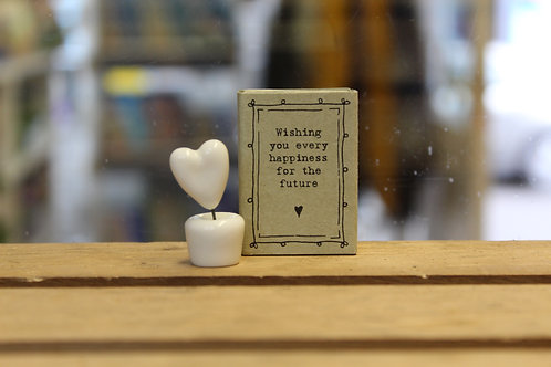 Wishing you every happiness - Heart Matchbox